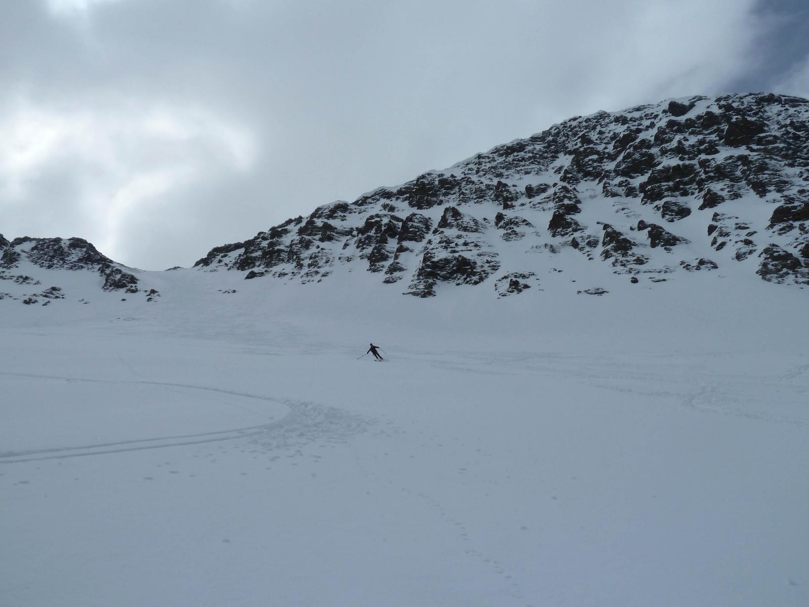 Discesa versante Val Varaita