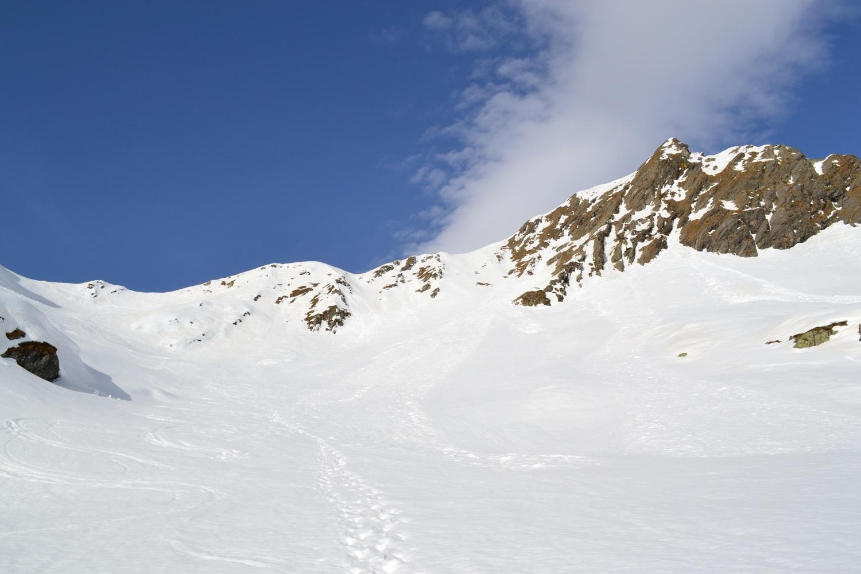 verso il Colle del Termo (a sinistra), a destra la Cima del Tiglio