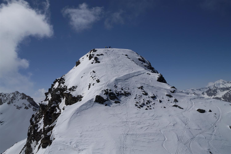La cima vista dall'anticima.