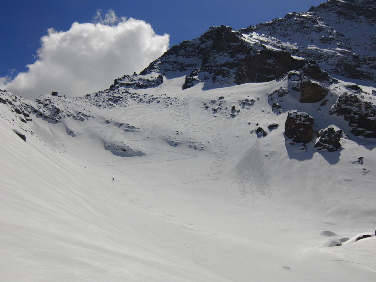Nel (Bocchetta di) quota 2980 m cresta NE della Levannetta da Chiapili di Sotto 2014-04-06