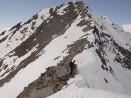 La parete S  già priva di neve