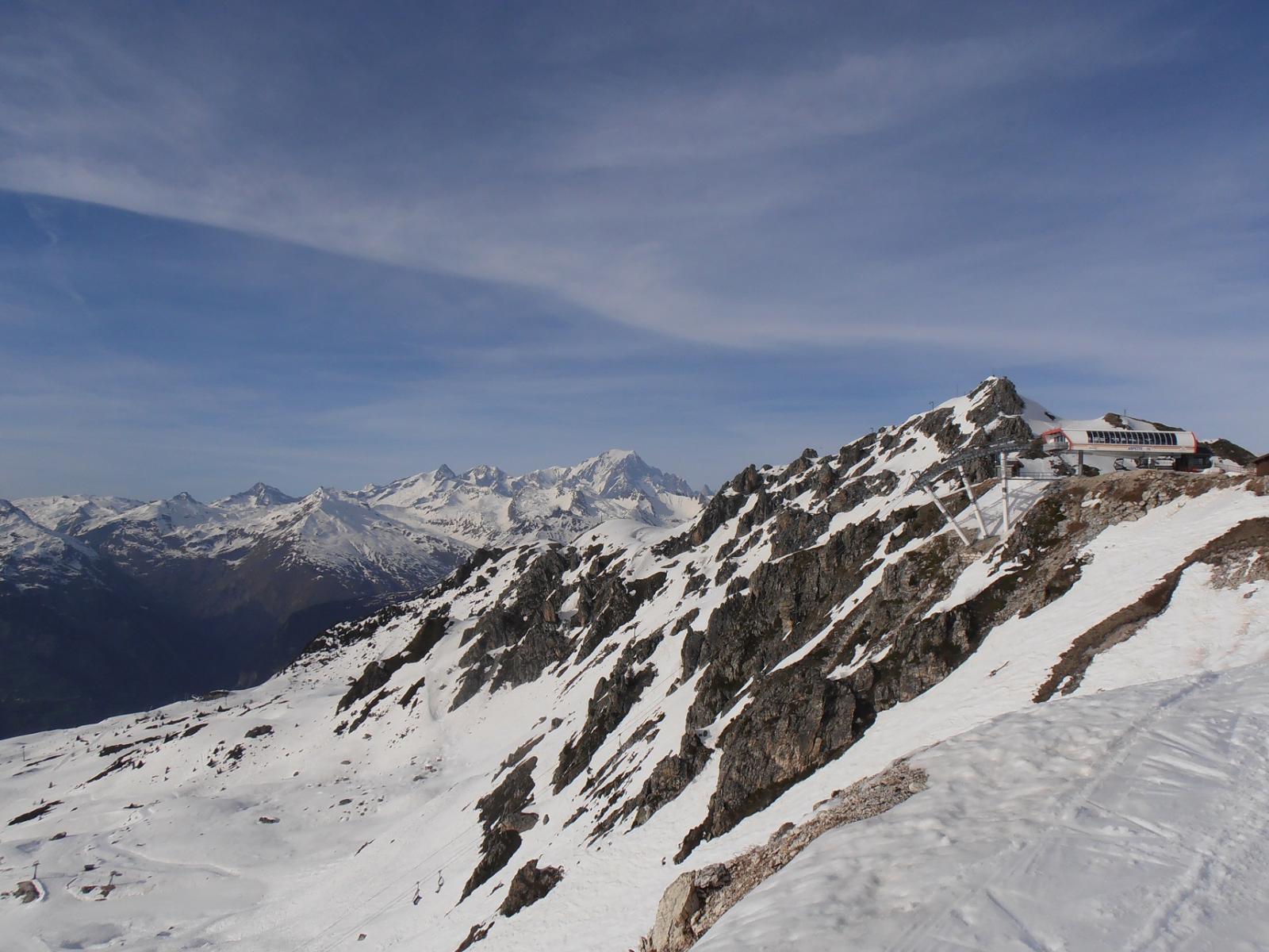 01 - l'Arpette con il Monte Bianco sullo sfondo