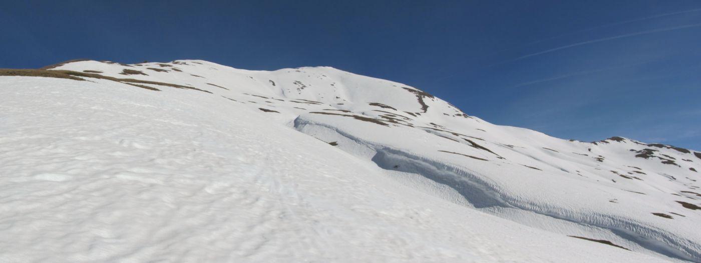 Nell'ultimo tratto un po' più di neve
