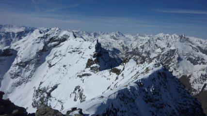 Vista verso l'alta valle di Rhemes dalla vetta