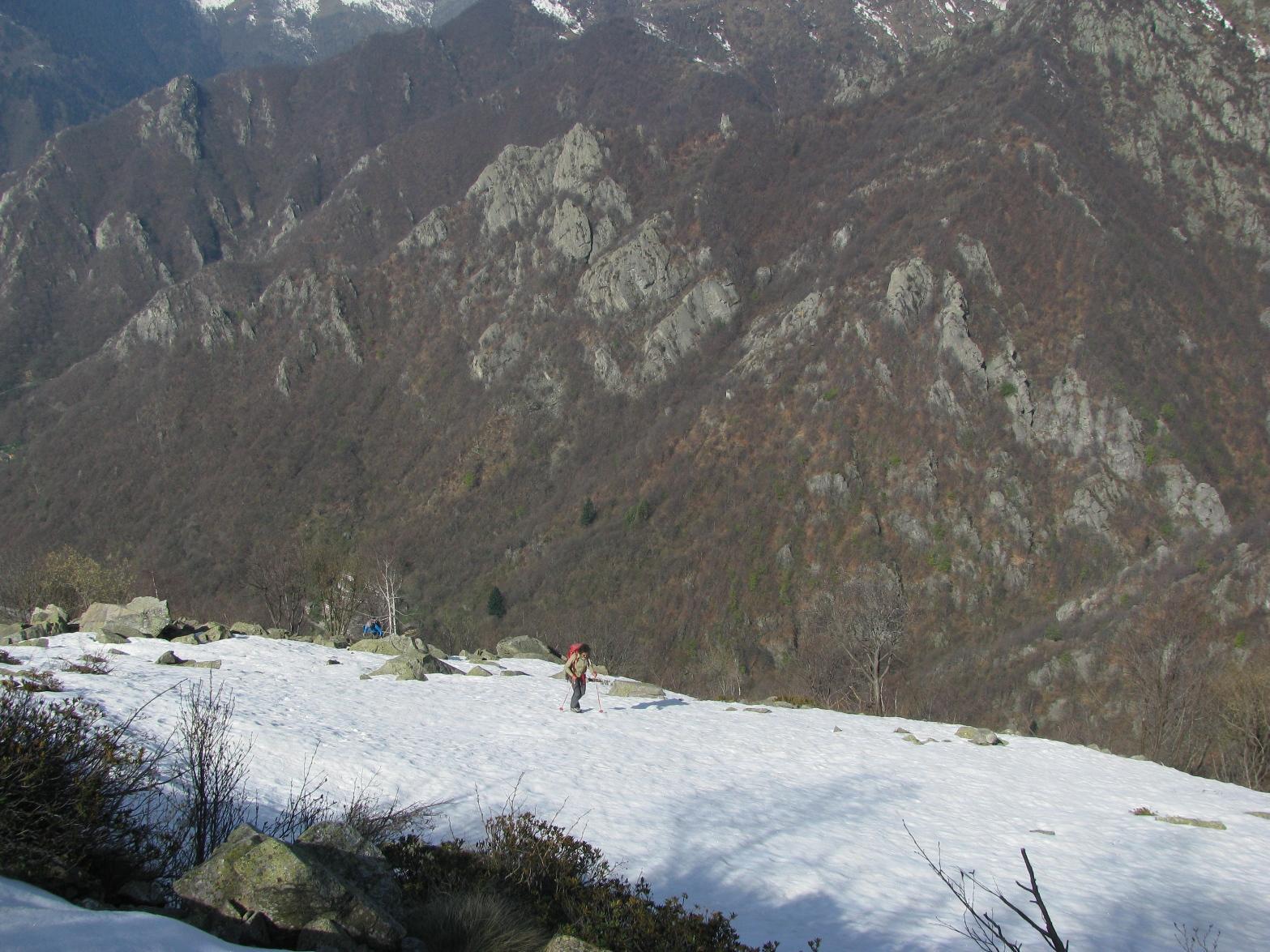 Ancora un pò di neve per raggiungere il Marmo
