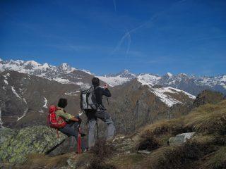 Ammirando le vette della Val Soana
