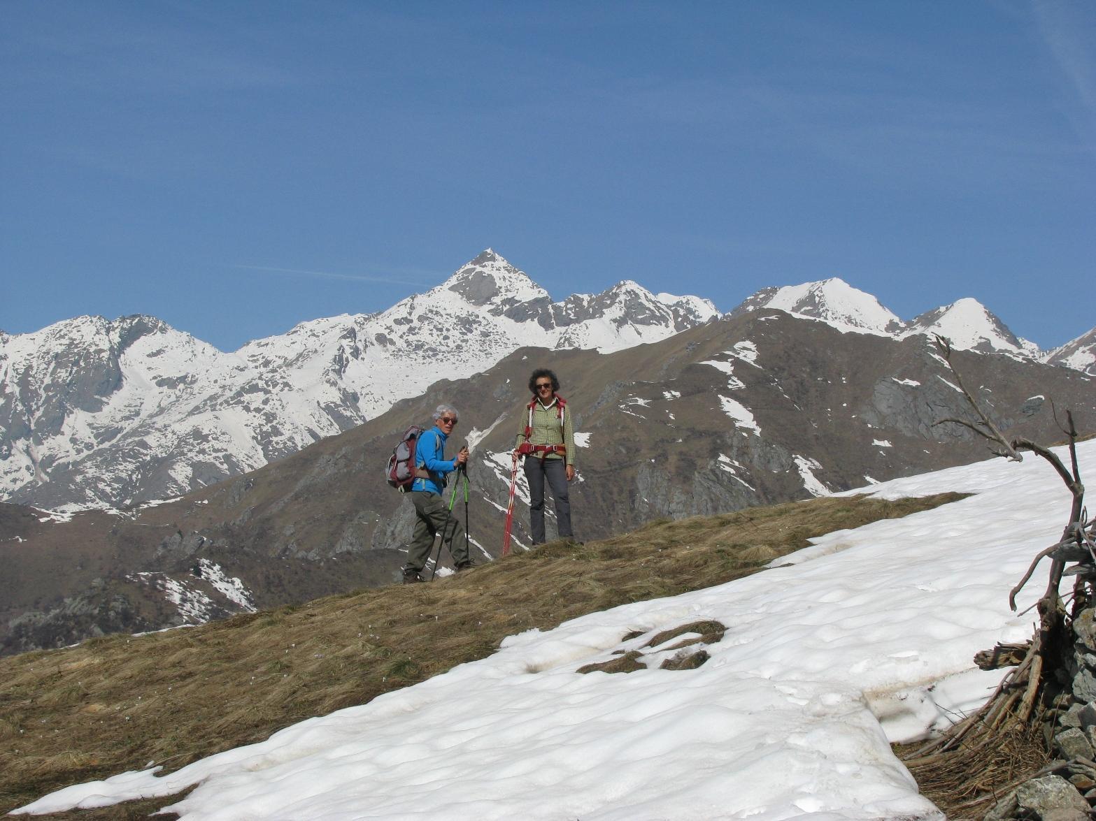 Dal Marmo, Mario e Mina con il Monte Colombo