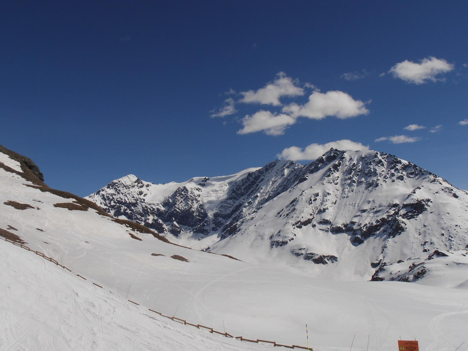 06 - Dal Col de L'Aguille i ghiacciai che scendono dalla Platte des Chamois