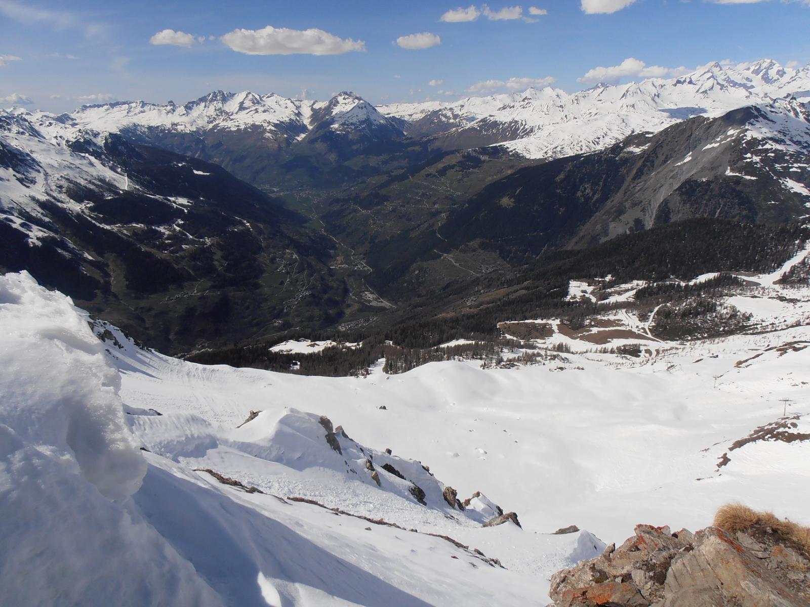05 - Dal Col de l'Aguille verso il fondovalle