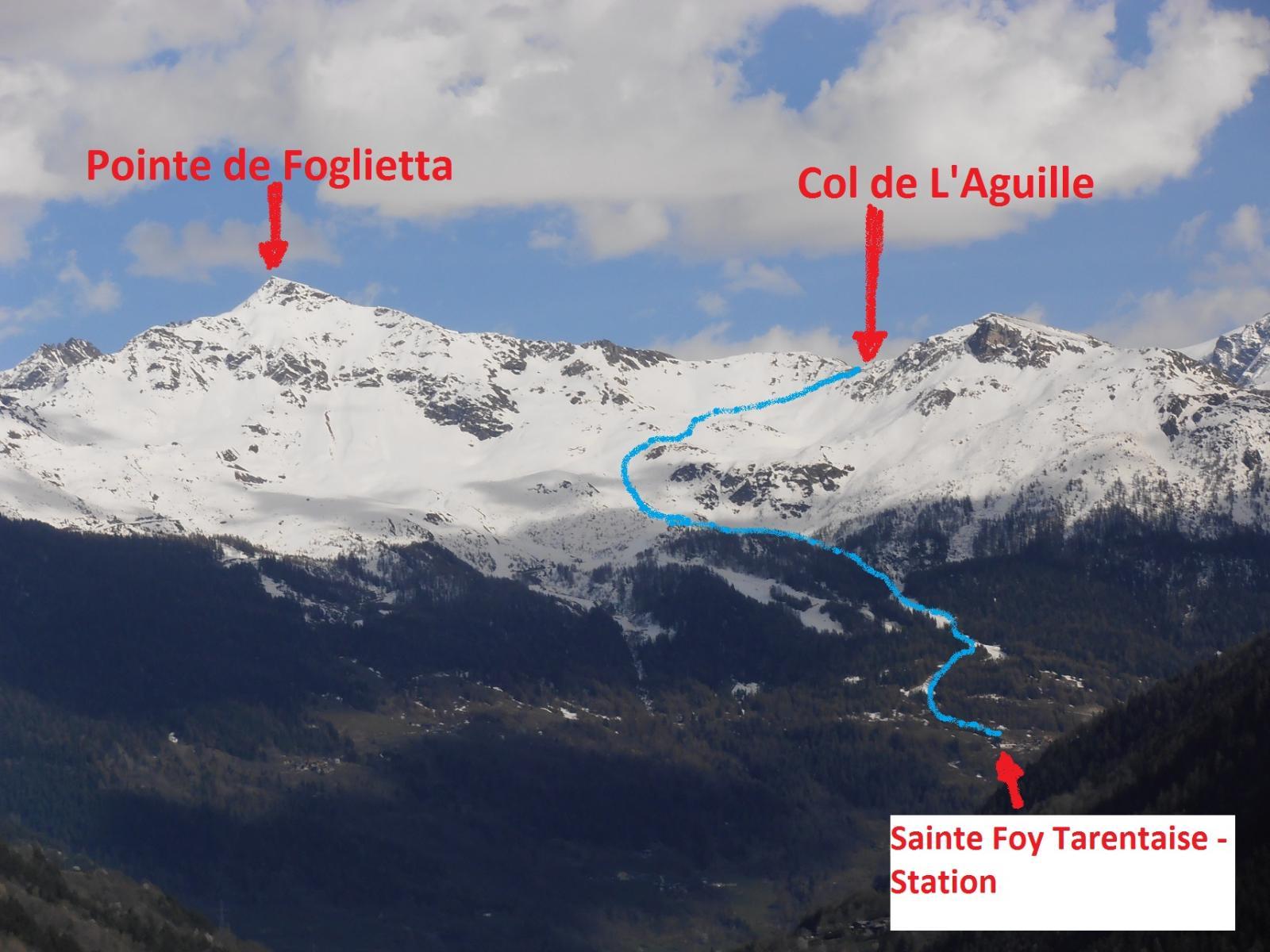 01 - Pointe de la Foglietta e Col de l'Aguille - itinerario