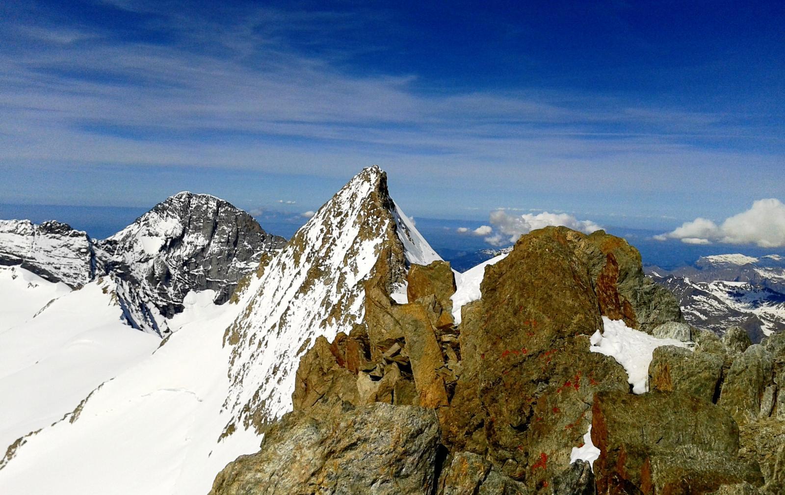 La cresta finale del Grosses vista dall'Hinteres