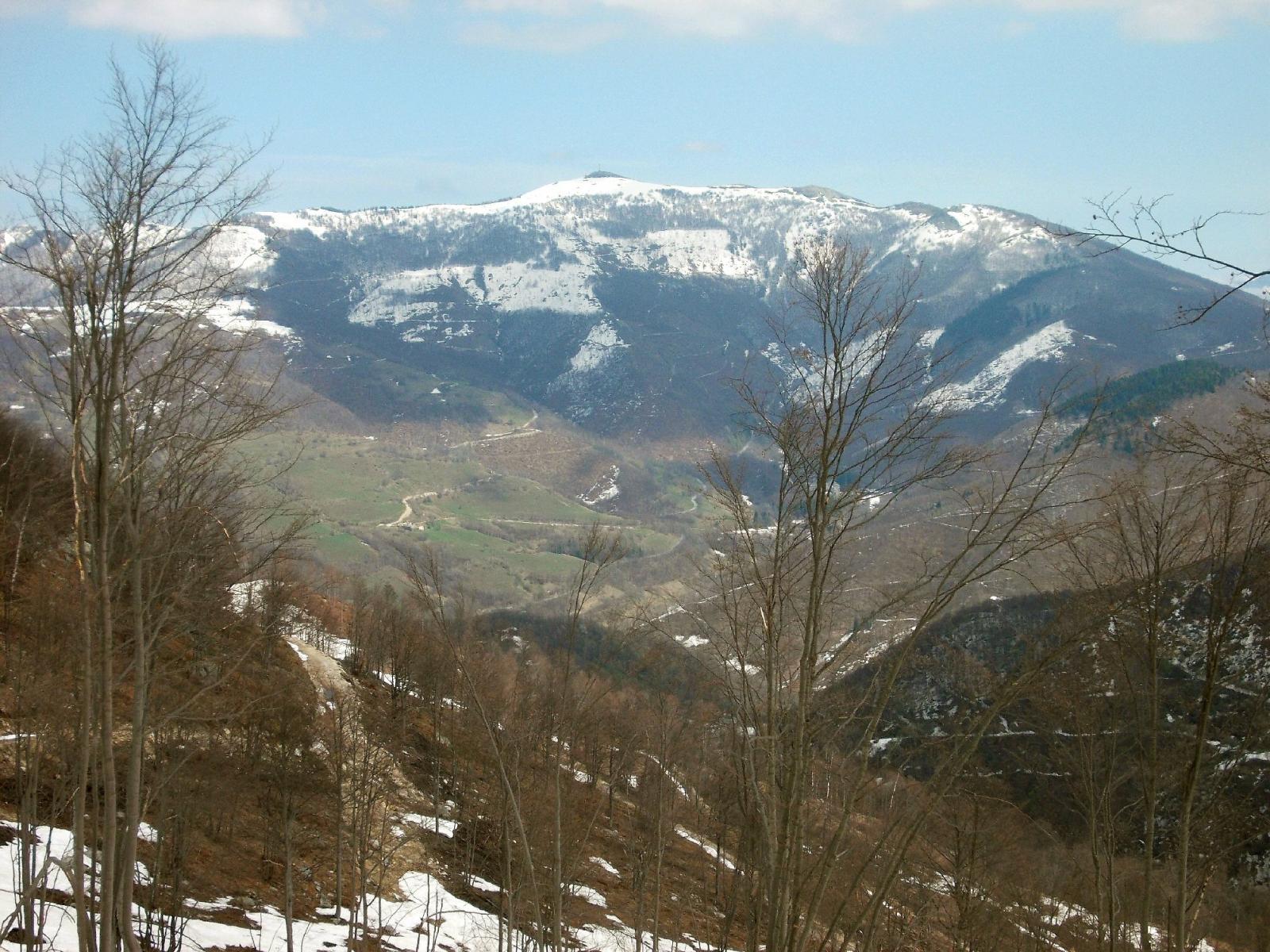 dal colletto vista su val Casotto e Bric Mindino