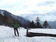nel pianoro dell'alpe Moulaz