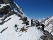 l'ultima fatica è conclusa siamo al colletto a 2610 m
