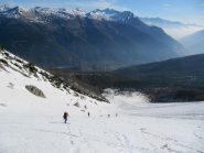 neve primaverile e panorama spettacolare