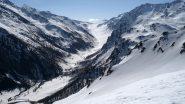Dalla cima vista verso la valle di Thures
