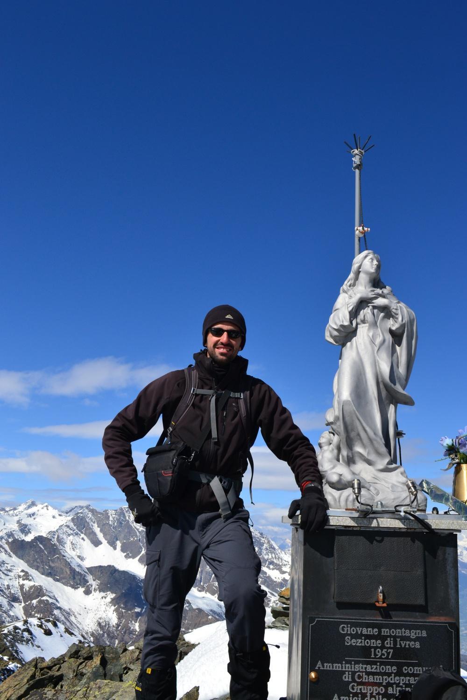 io in cima al Mont Avic: che soddisfazione!