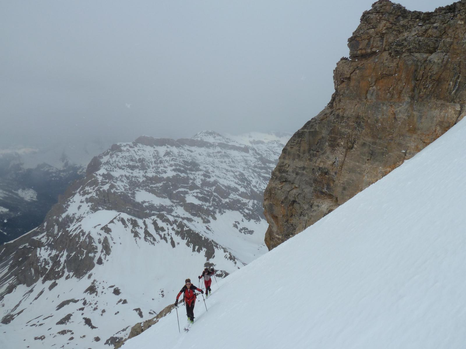 Qualche fiocco di neve in prossimità della cima