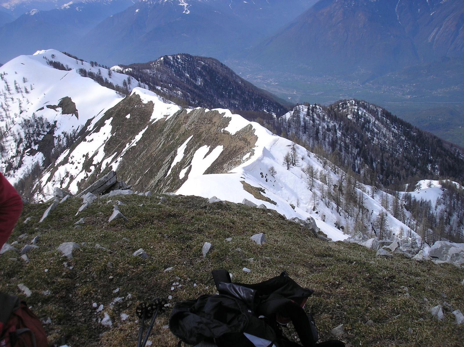 la cresta verso il monte alom