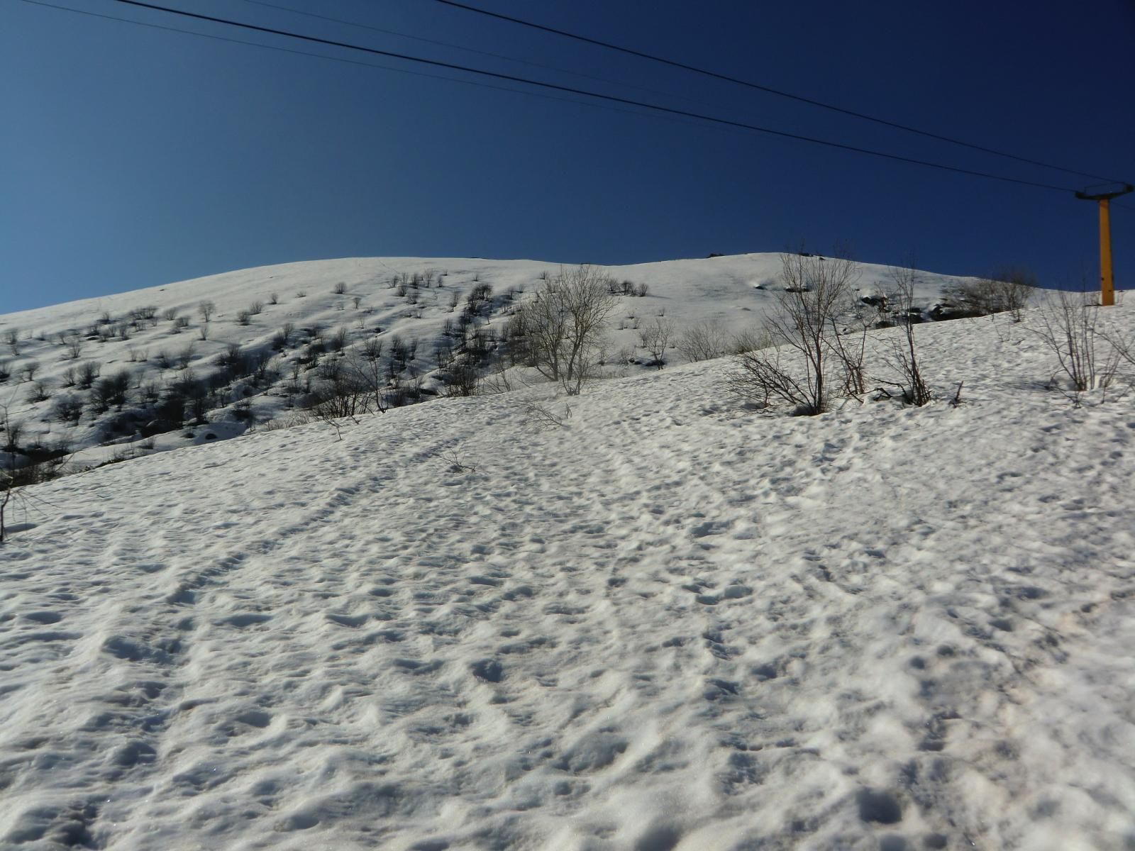 I pendii finali verso cresta e passo Miette