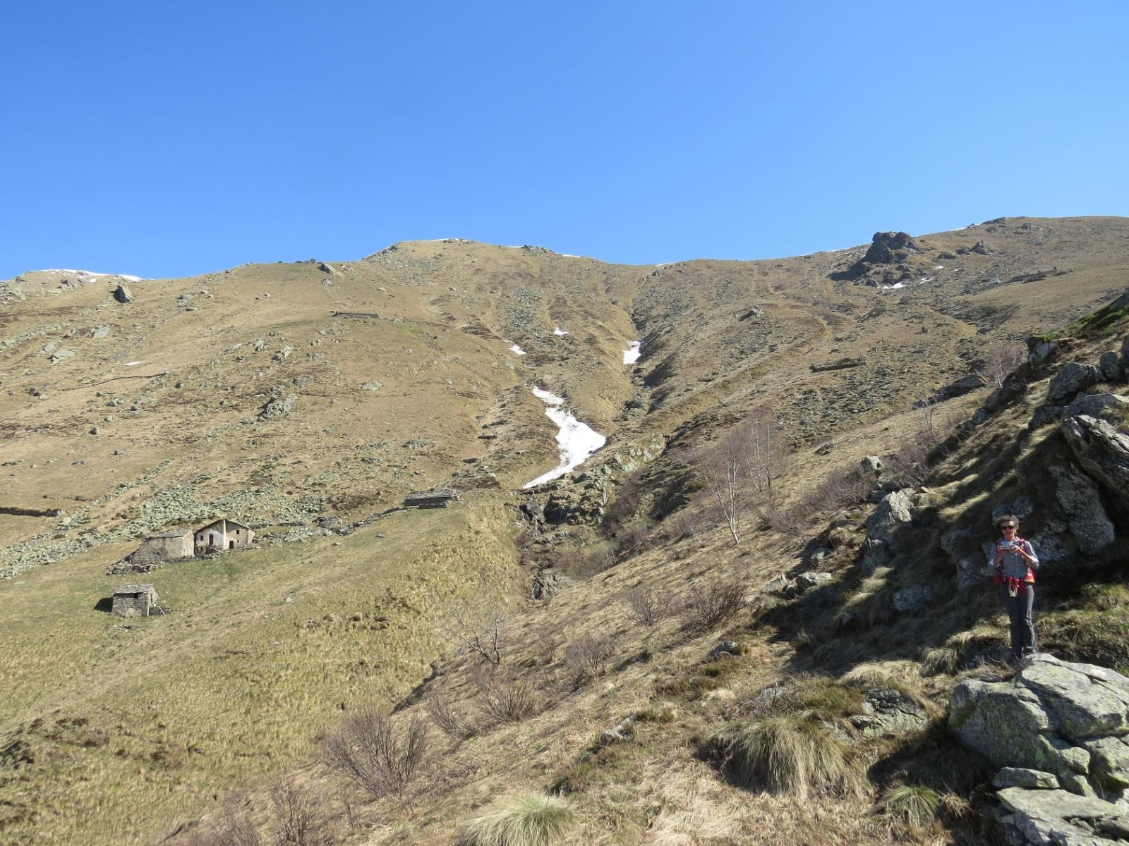 Il versante sud del Monte Arzola