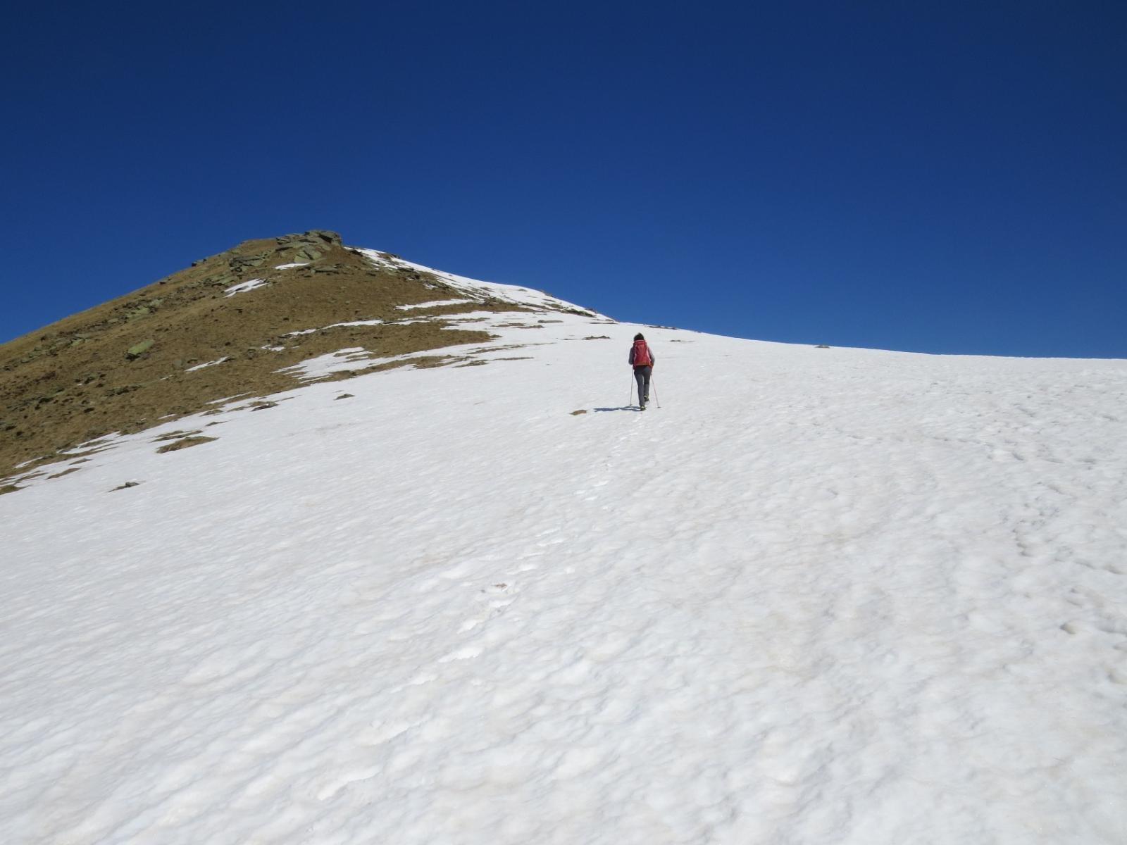 Salendo sulla dorsale verso il Monte Arzola