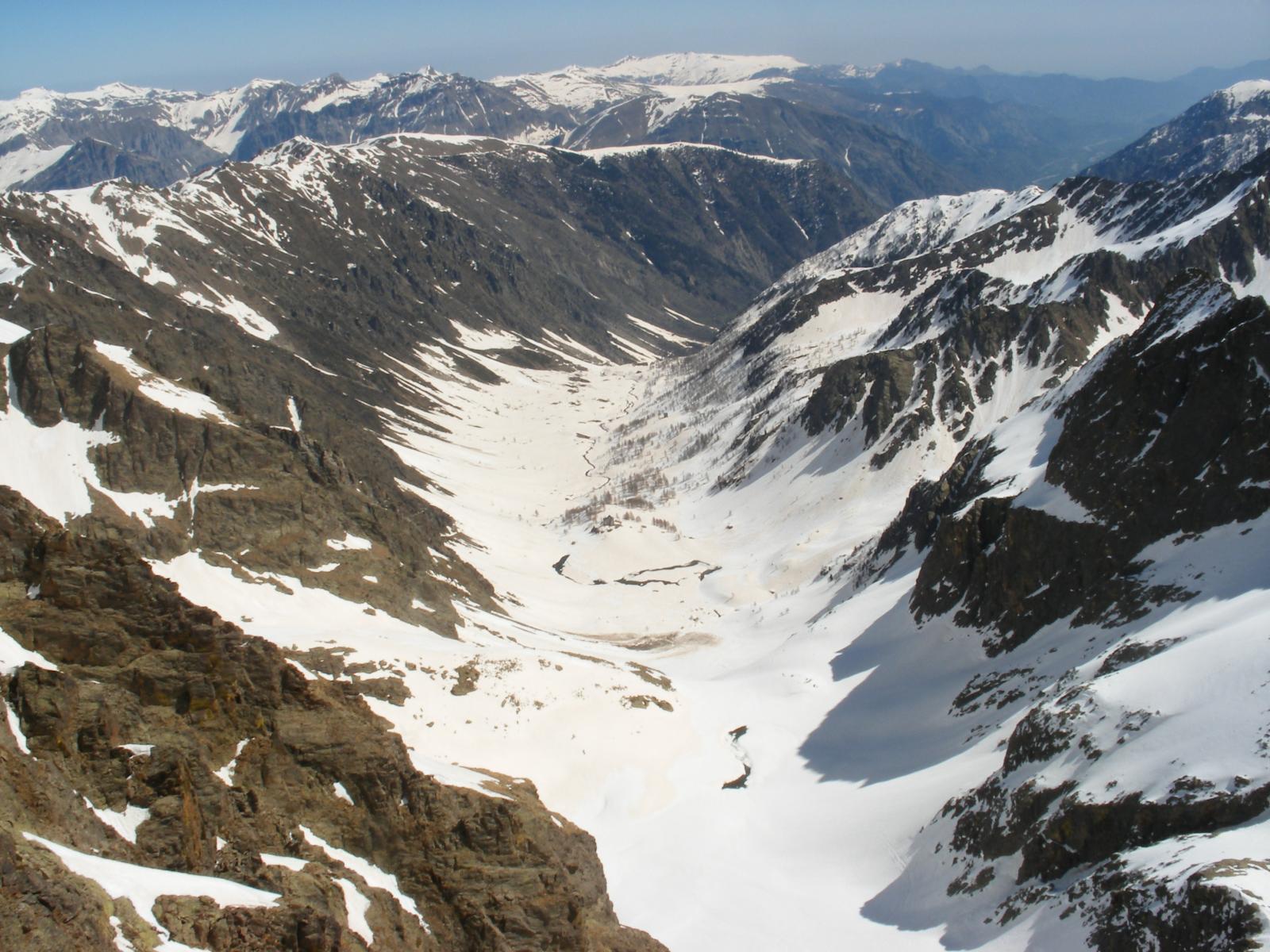 il vallone d'Ischiator dalla cima