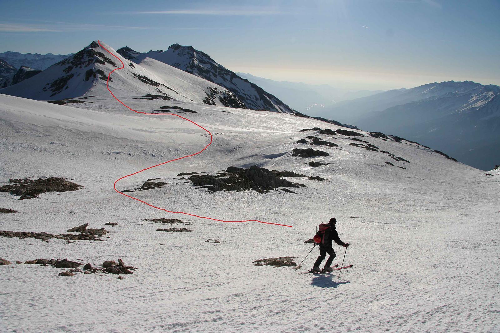 Verso al punta del Monte Ambin