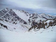 il vallone di salita, in fondo cima clausi e pic de rochebrune