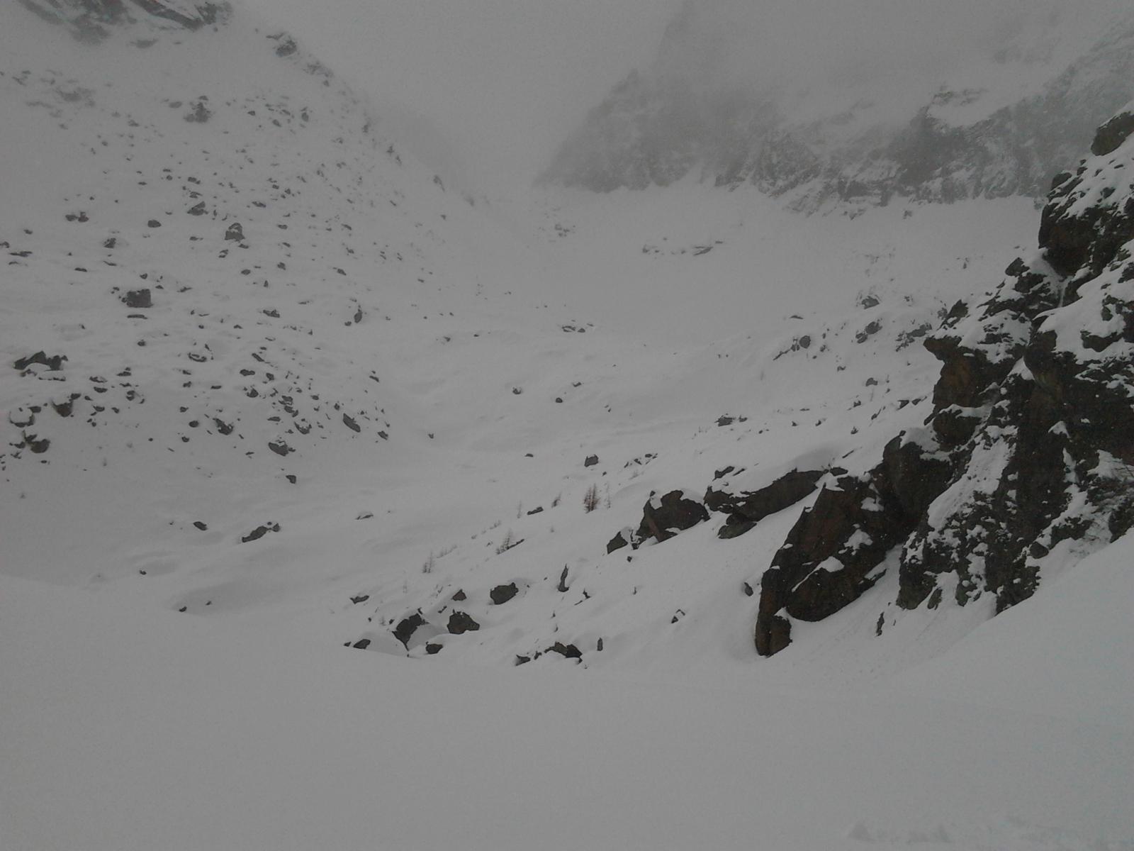 il passo del Paschiet visto dal colletto sopra i laghi Verdi