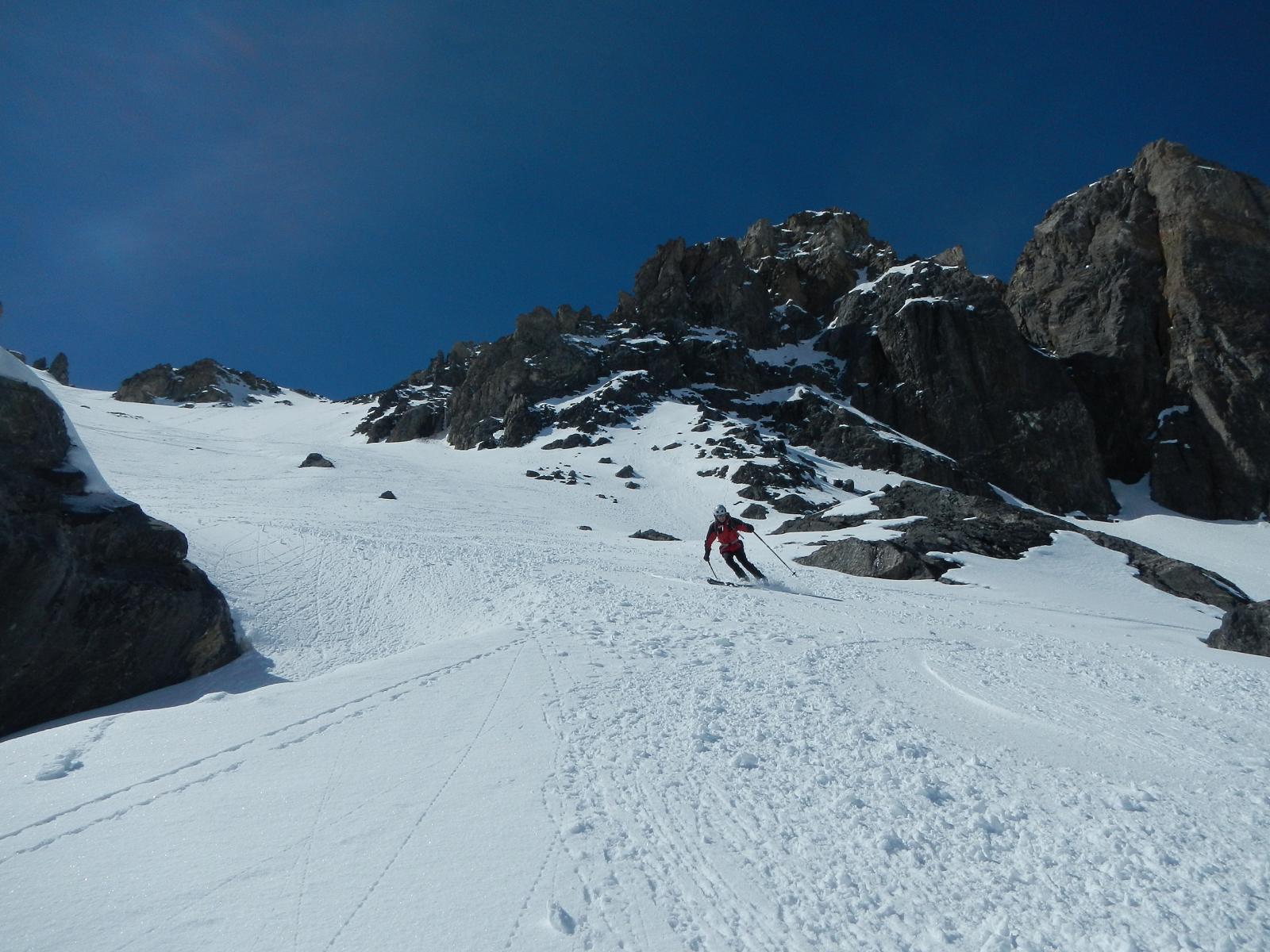 400 m. di discesa su pendio ideale per lo sci