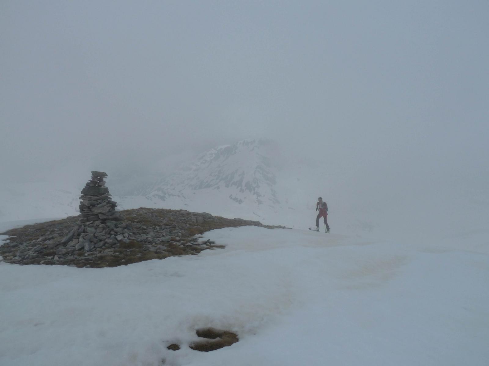 Arrivo in cima assieme alla nebbia (che sfortuna!!)