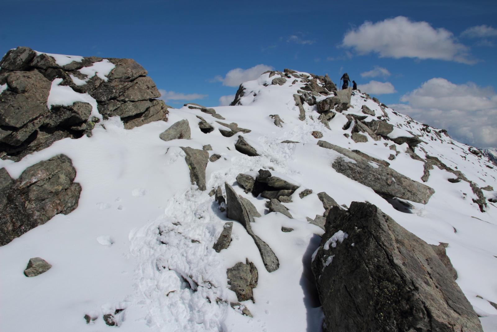 ultimi metri di cresta prima della cima della Fiutrusa