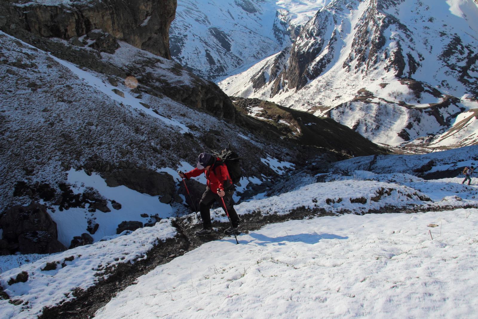 la prima neve incontrata a quota 2300 m