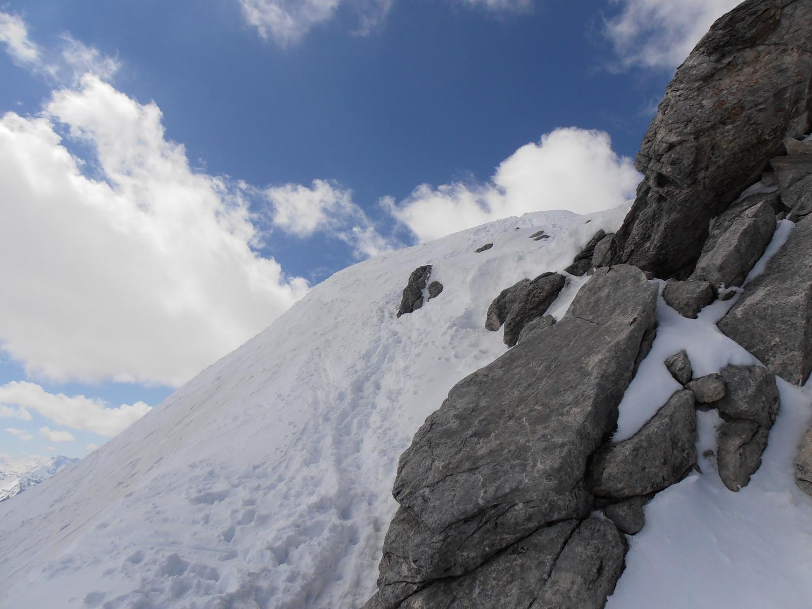 03 - inizio cresta finale, dove si lasciano gli sci