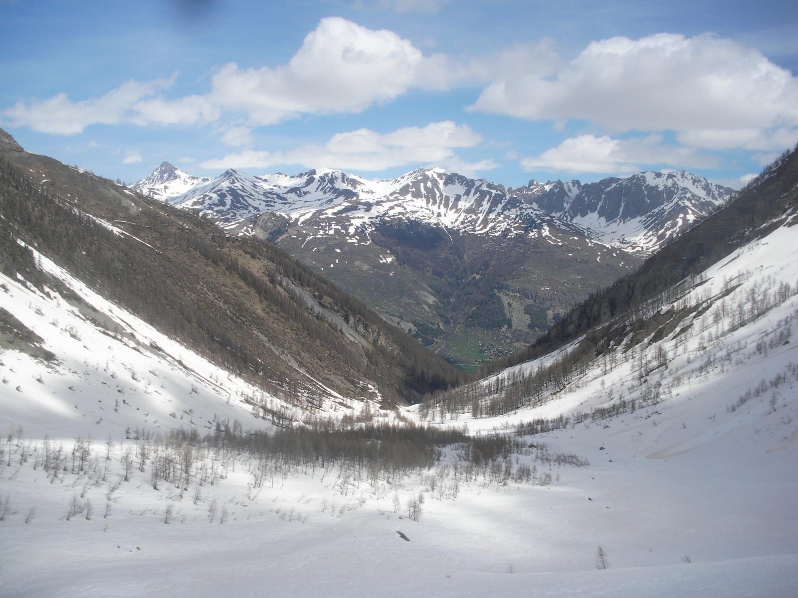 la parte bassa del vallone verso Monetier-Les-Bains..