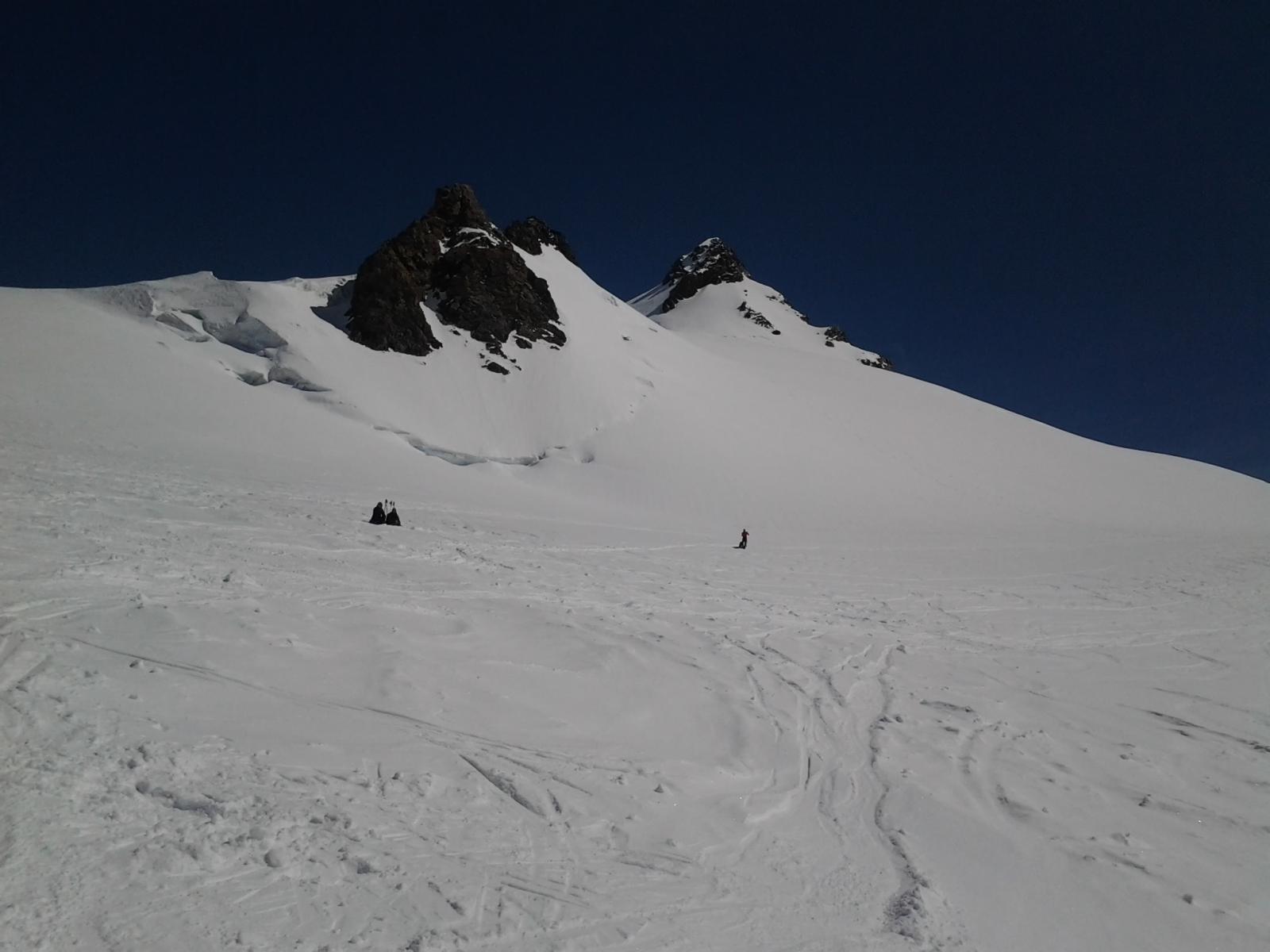 Balmenhorn e Corno Nero dal pianoro a 4000 m