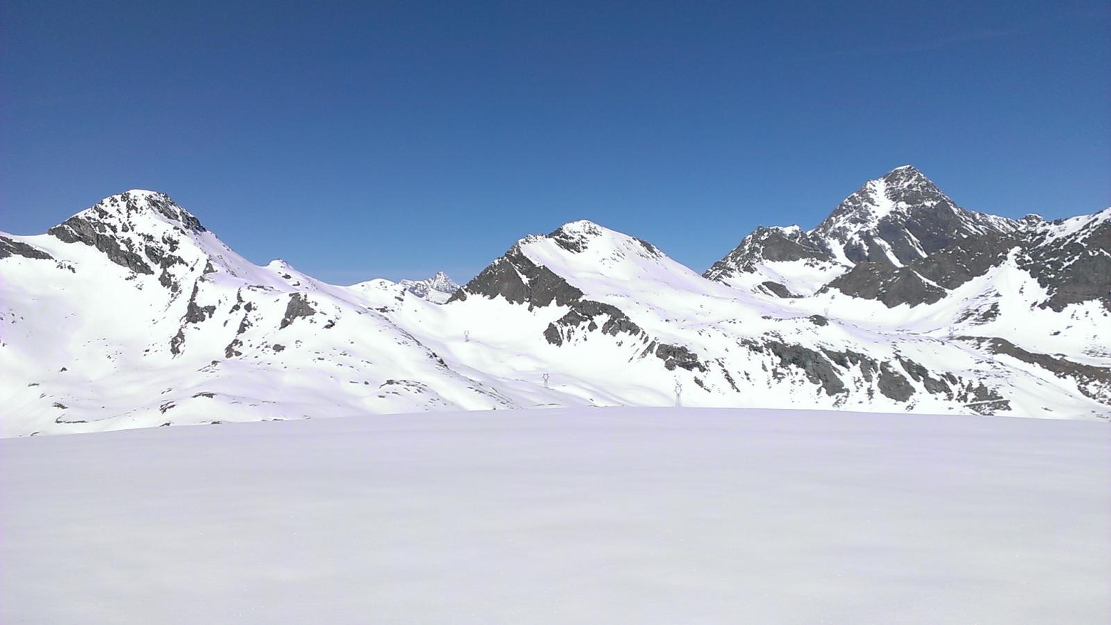 Testata della valle, ancora molta neve