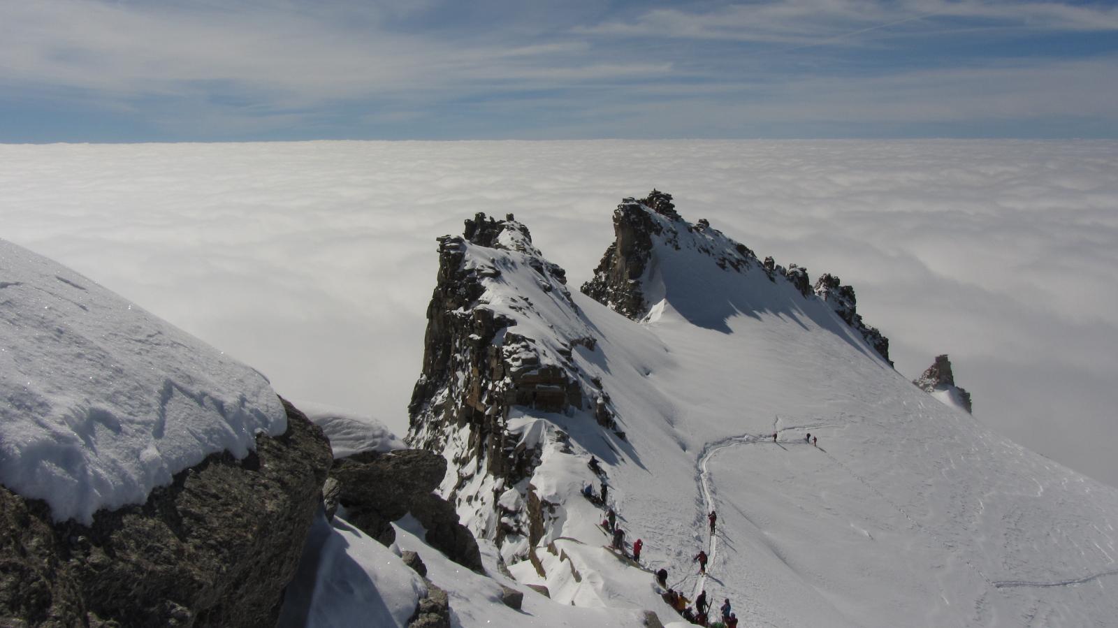 Mare di nubi a valle