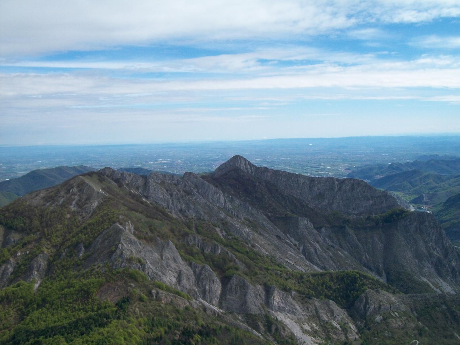 Vista verso il Monte Saben dalla cima