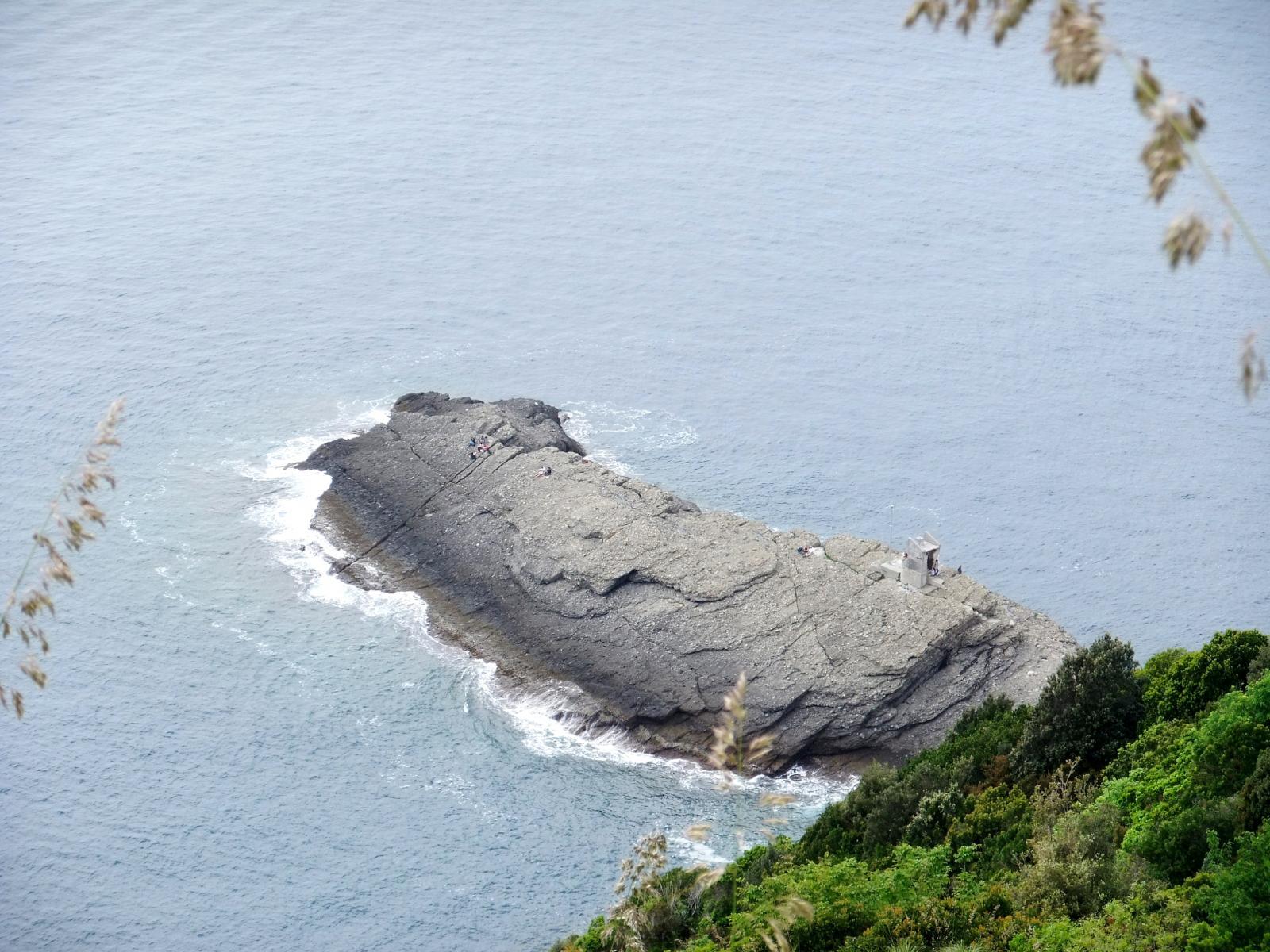 Quasi a Punta Chiappa...