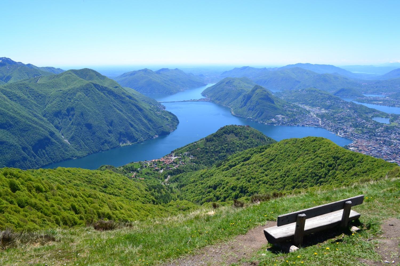panorama sul lago dalla cima