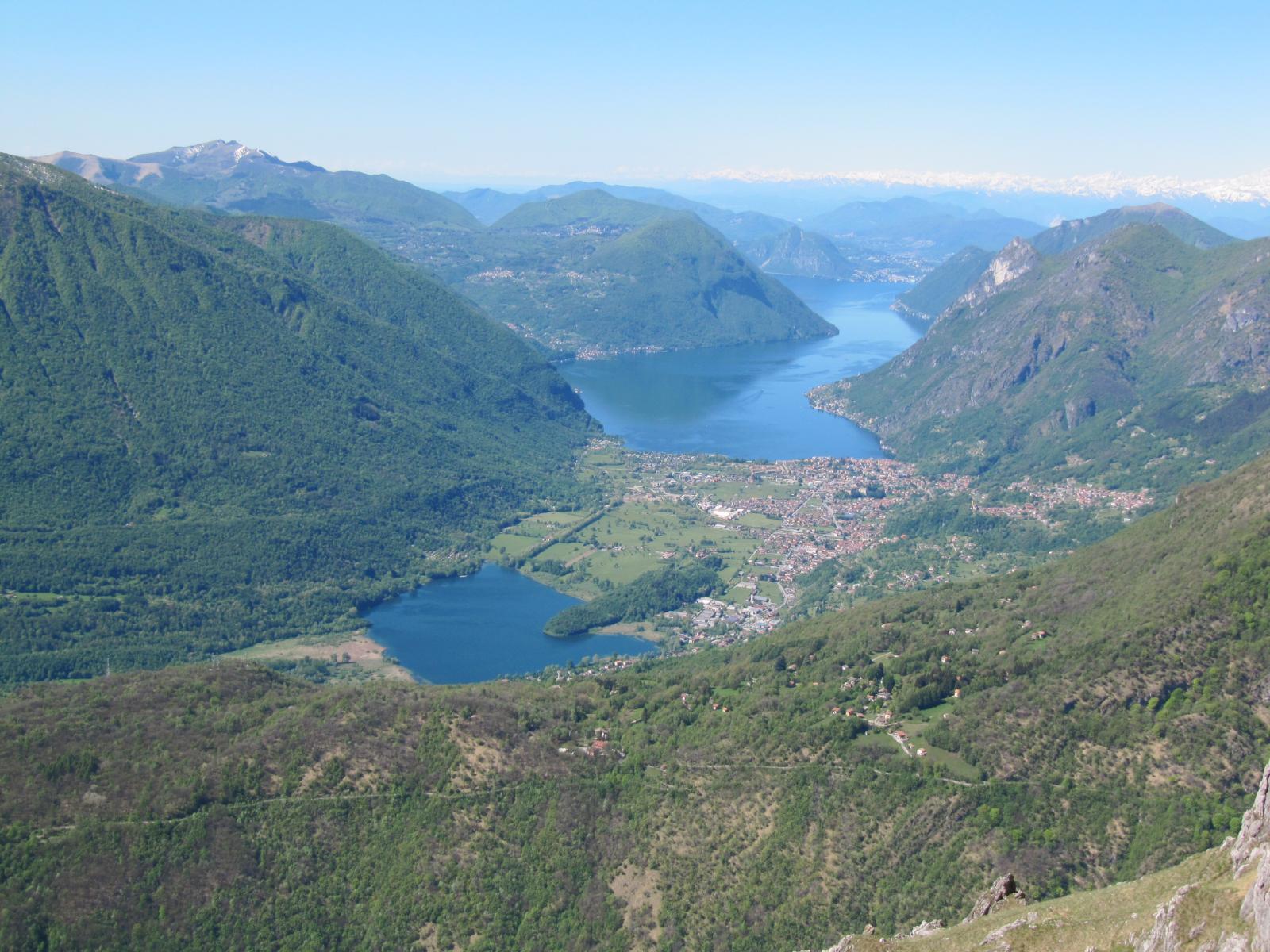 lago di lugano e lago piano