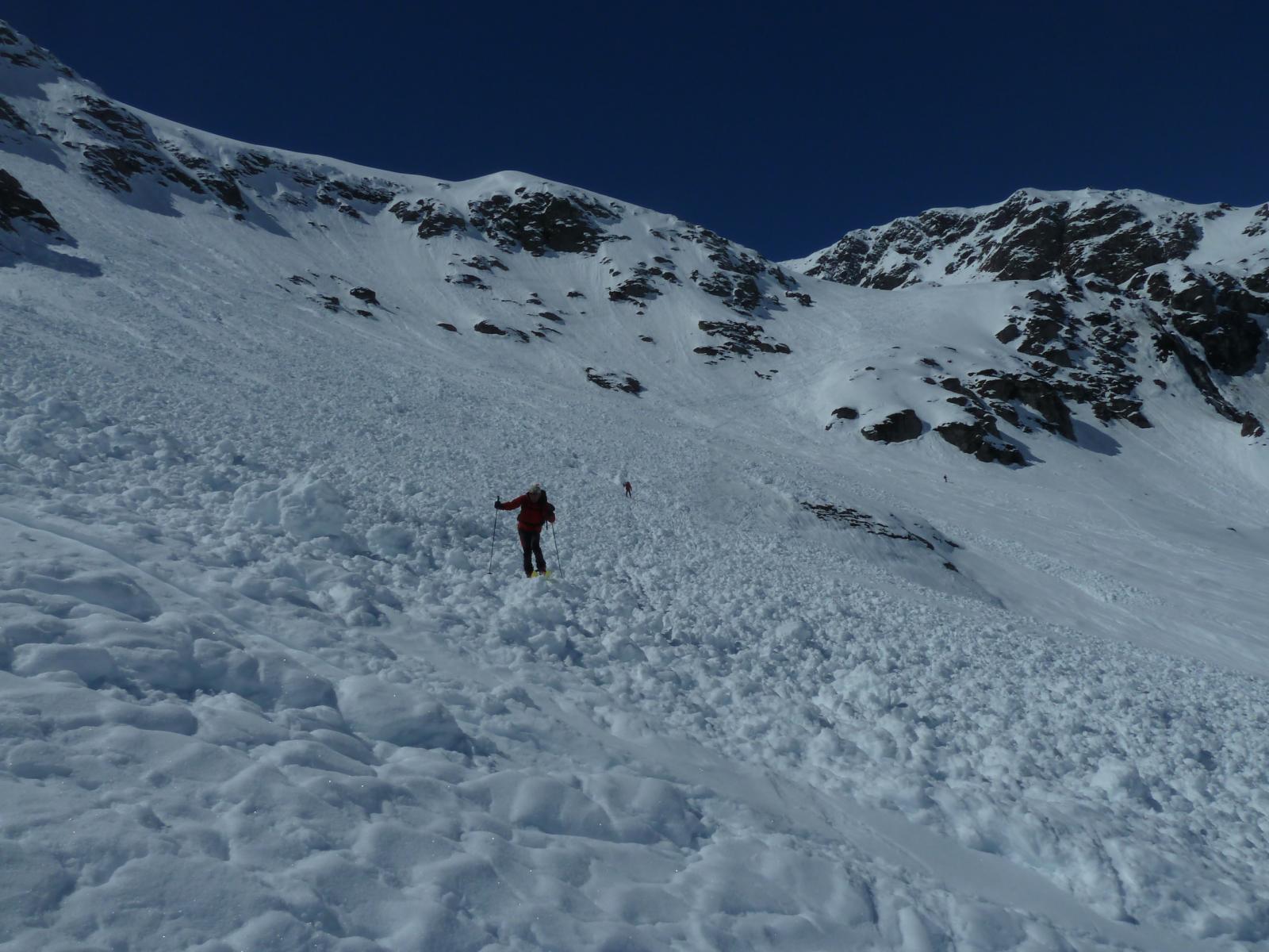 sciando su valanga