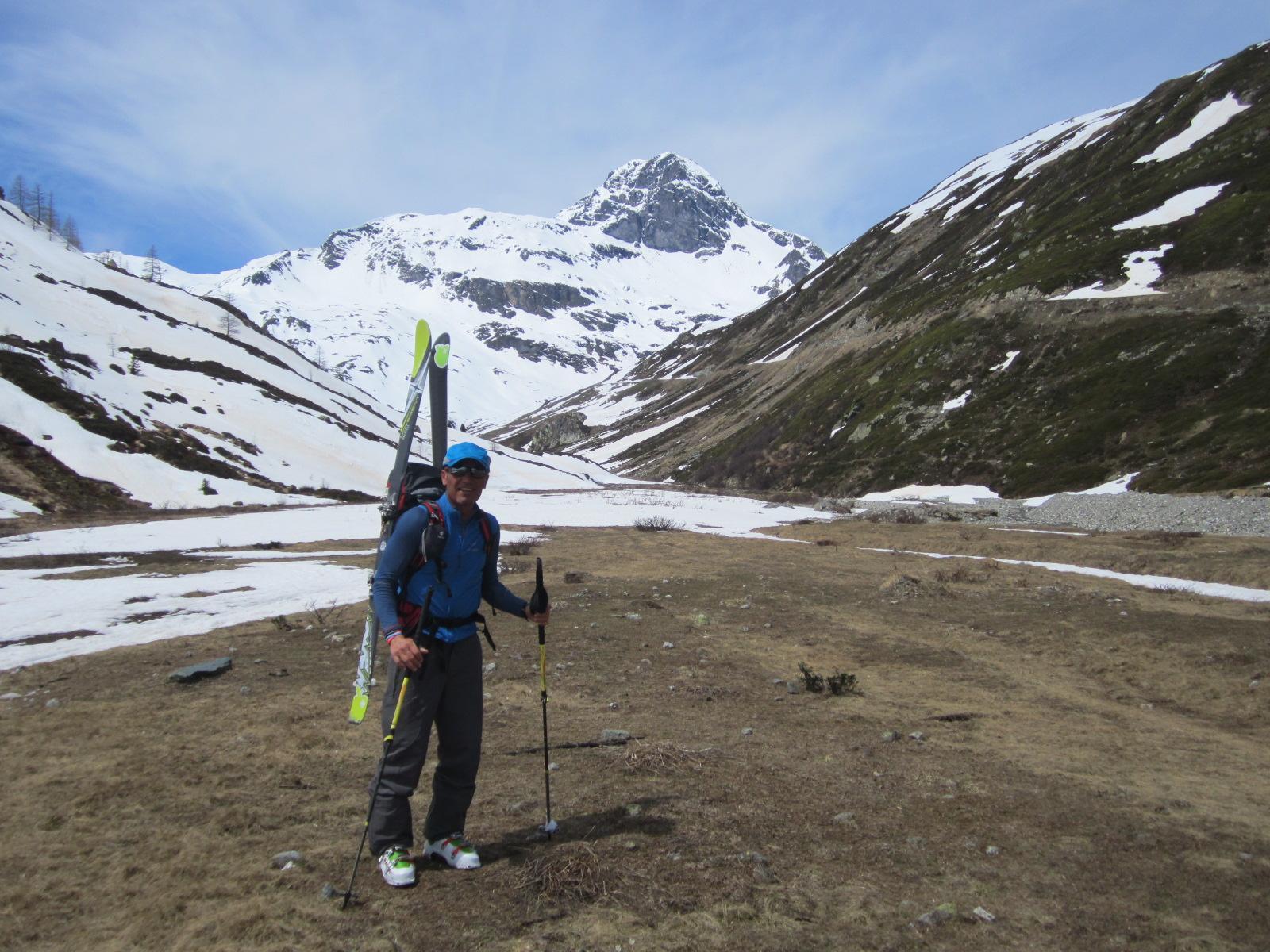 …sullo sfondo la Gran Becca du Mont