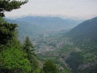 Vista su Aosta
