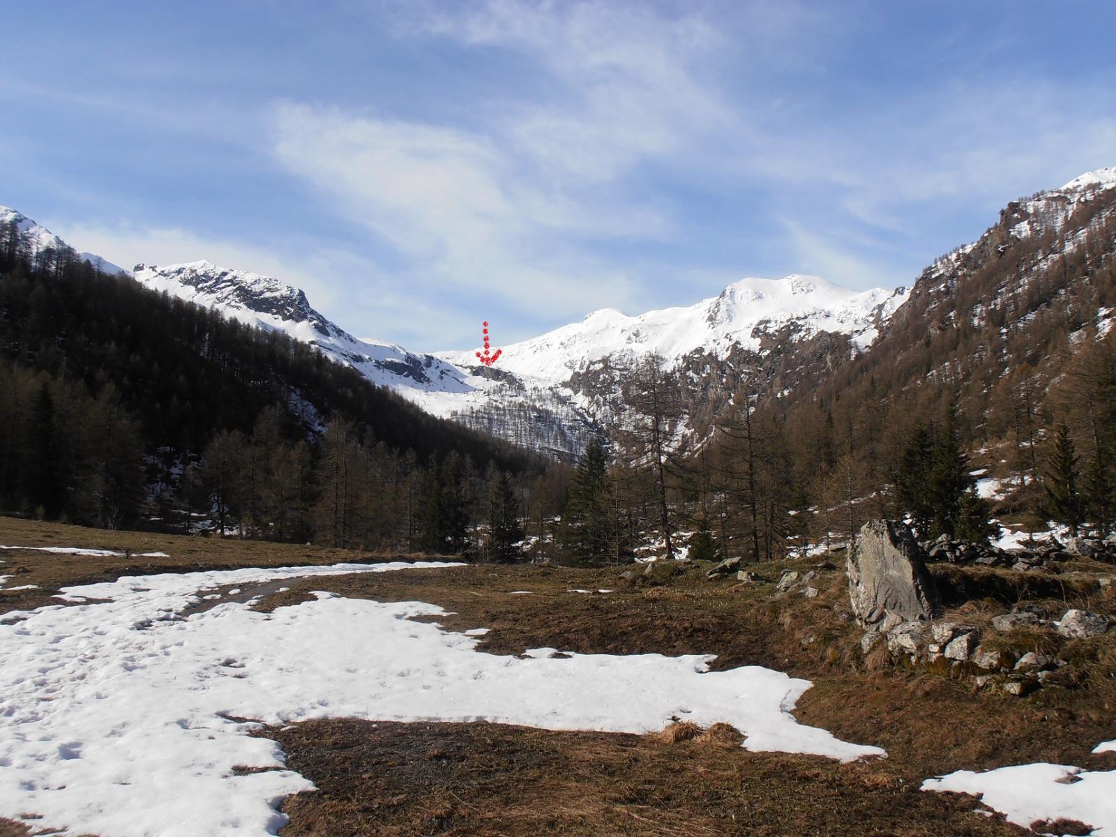 06 - il Vallone si allarga dopo i ripidi pendii nella zona delle miniere di Rame