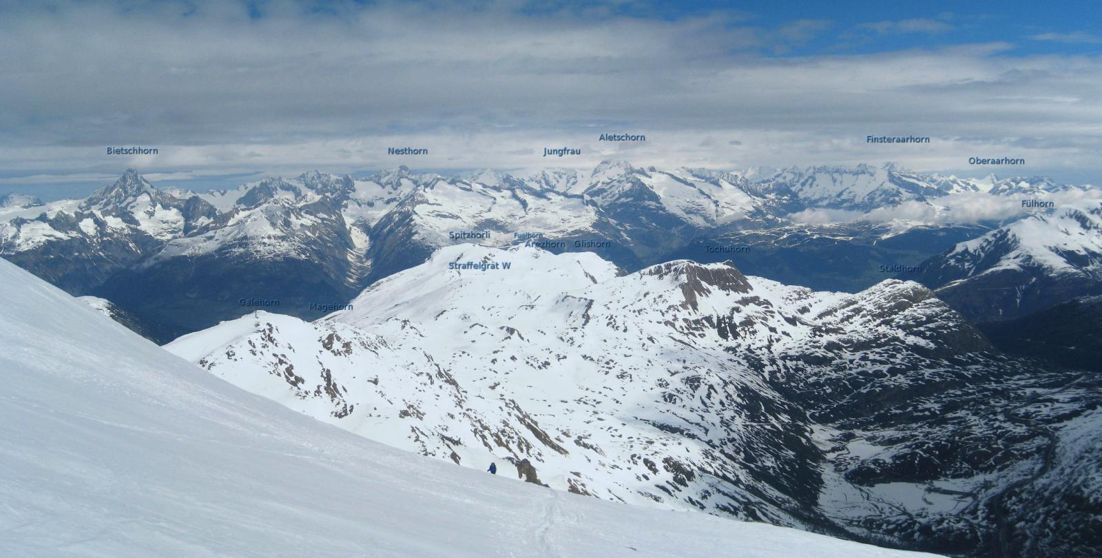 scialpinistiche del Sempione e punte fra le nuvole
