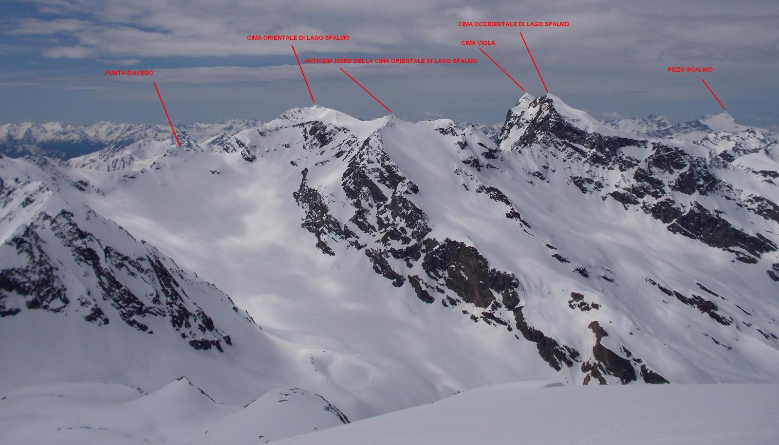 Panorama dalla cima di Dosdè
