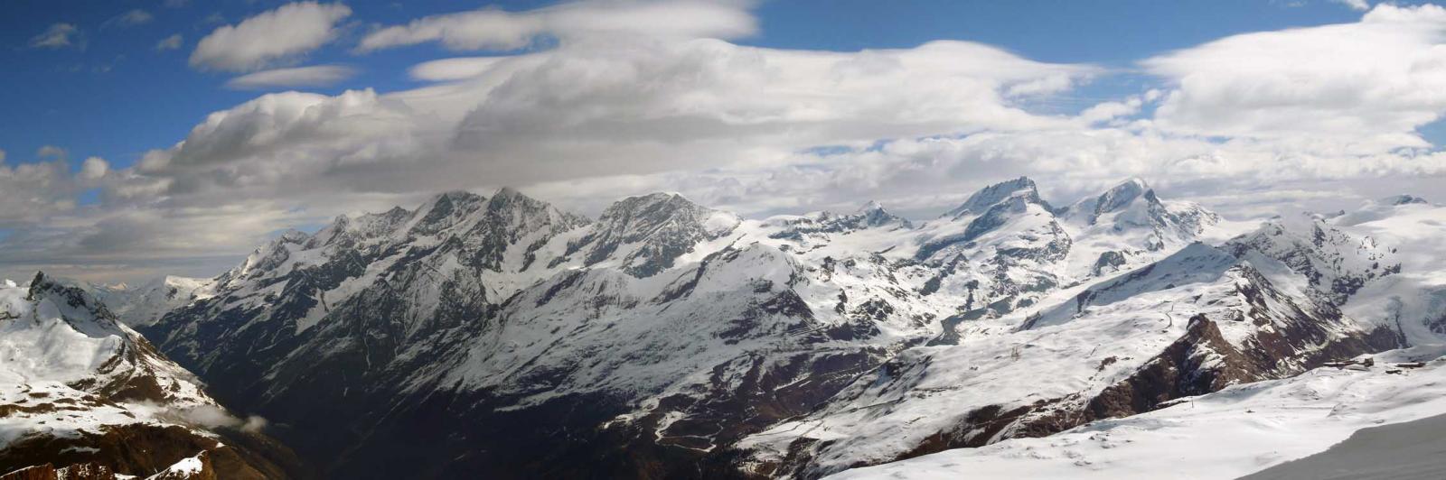 i 4000 di zermatt dal dom a sin nelle nuvole allo stralhhorn a des